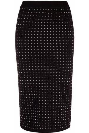 Pinko Women Pencil Skirts - Studded pencil skirt