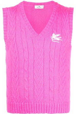 Etro Pegaso cable-knit vest
