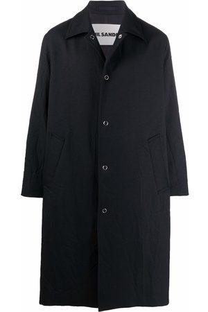 Jil Sander Men Parkas - Snap-button parka coat