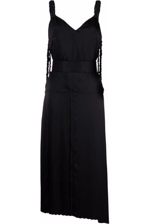 Jil Sander Plaited-strap asymmetric midi dress