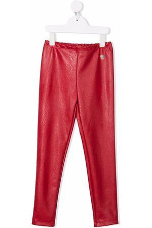 MONNALISA Girls Flat Shoes - Faux-leather slip-on leggings