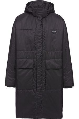 Prada Men Rainwear - Logo-plaque raincoat