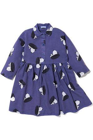 Bobo Choses Girls Printed Dresses - Dog print buttoned midi dress