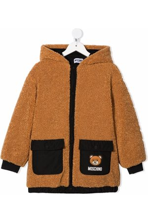 Moschino Boys Fleece Jackets - Teddy bear-motif hooded jacket