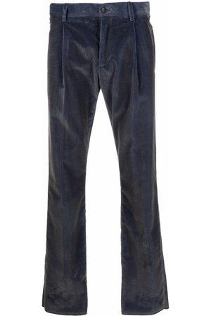 Etro Men Formal Pants - Ribbed-Velvet tailored trousers