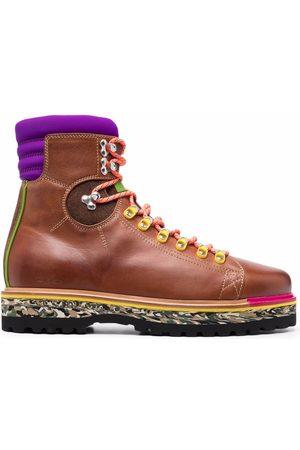 Etro Men Boots - Contrast-Detail leather boots