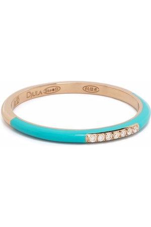 DJULA Women Rings - 14kt rose gold Marbella diamond enamel band ring