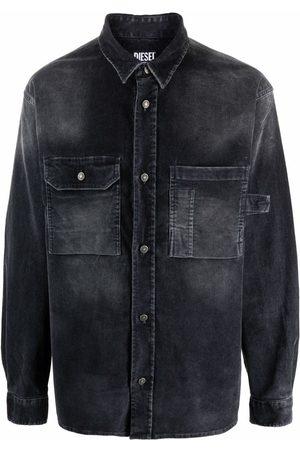 Diesel Men Shirts - Stonewashed corduroy shirt
