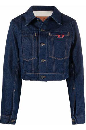 Diesel Women Denim Jackets - Rinse-washed denim jacket