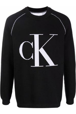 Calvin Klein Men Sweatshirts - Crew neck logo-print sweatshirt