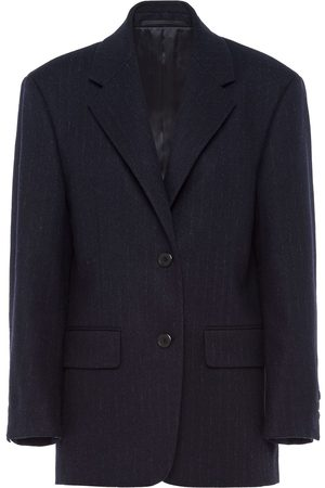 Prada Women Blazers - Single-breasted pinstripe blazer