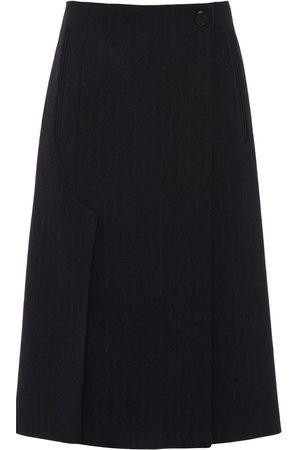Prada Women Pleated Skirts - Box-pleat wool-felt skirt
