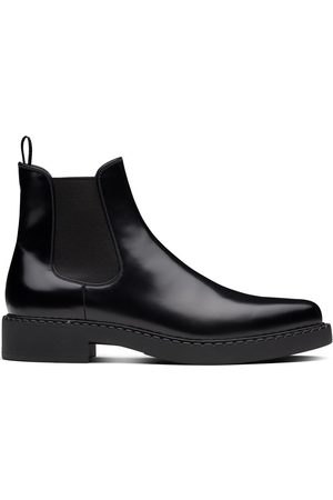 Prada Men Chelsea Boots - Brushed leather Chelsea boots