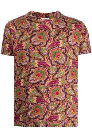 Etro Men T-shirts - Paisley-print cotton T-shirt - Multicolour