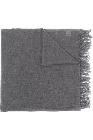 Malo Men Scarves - Fringed cashmere scarf - Grey