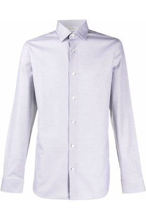 Z Zegna Textured long-sleeve shirt - Grey