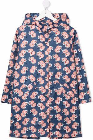 Marni Girls Rainwear - Floral-print waterproof jacket