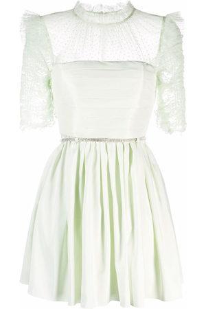 Self-Portrait Women Dresses - Semi-sheer ruffle-detail dress