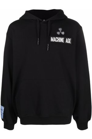 McQ Men Hoodies - Patch-detail cotton hoodie