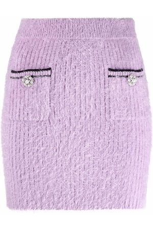 Self-Portrait Fluffy mini skirt