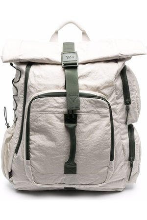Y-3 Men Rucksacks - Utility contrast-trimmed backpack - Neutrals