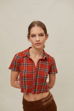 Urban Cozy Plaid Button-Down Shirt