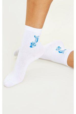 PRETTYLITTLETHING Women Socks - Logo Ankle Socks