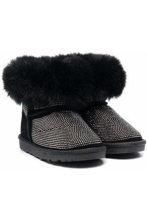 MONNALISA Faux fur-trim boots