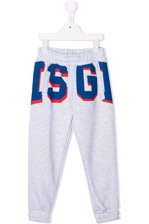 Msgm Boys Sweatpants - Logo-print track pants - Grey