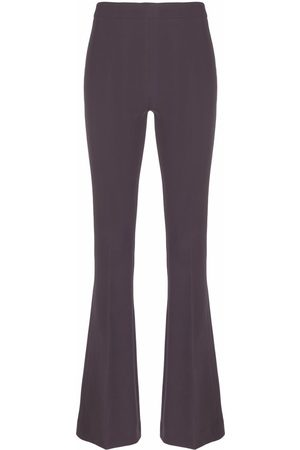 BLANCA Fitted flare trousers - Grey