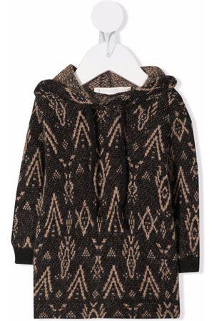 Zhoe & Tobiah Intarsia-knit long-sleeve hoodie - Grey