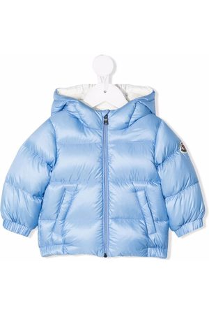 Moncler Feather-down hooded puffer jacket