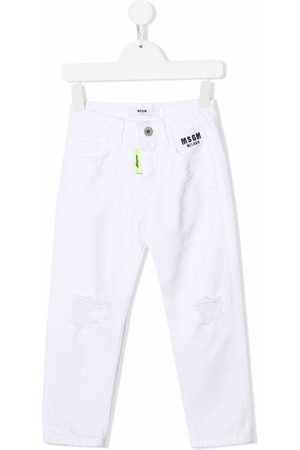 Msgm Logo-print skinny-cut jeans