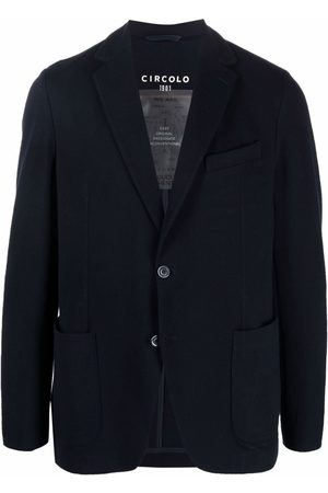 Circolo Men Blazers - Notched-lapels single-breasted blazer