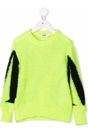 Msgm Boys Sweaters - Intarsia-knit logo jumper