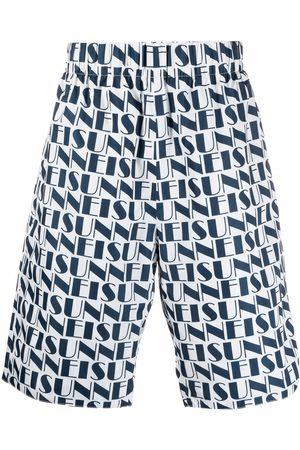 SUNNEI Logo-print reversible shorts
