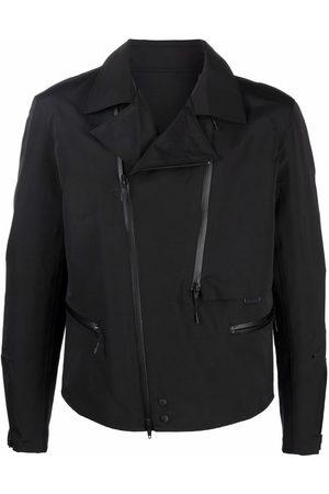 Y-3 Off-centre zip biker jacket