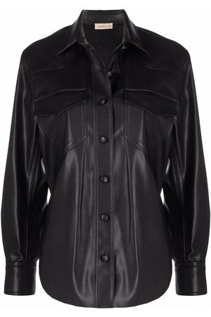 BLANCA Faux-leather shirt