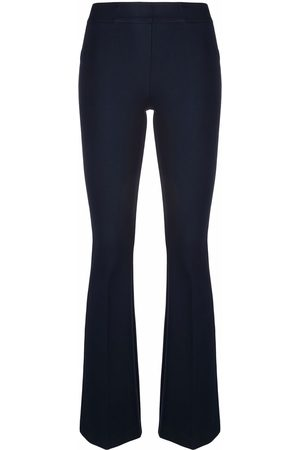 BLANCA Mid-rise flared trousers