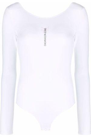 Calvin Klein Logo-print backless bodysuit
