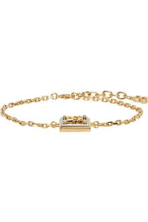 Dolce & Gabbana Men Bracelets - Gold & Silver Logo Pendant Bracelet