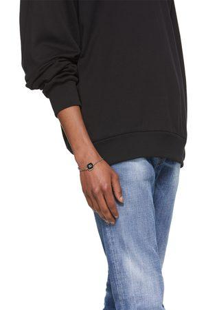 Dolce & Gabbana Men Bracelets - Silver Logo Pendant Bracelet