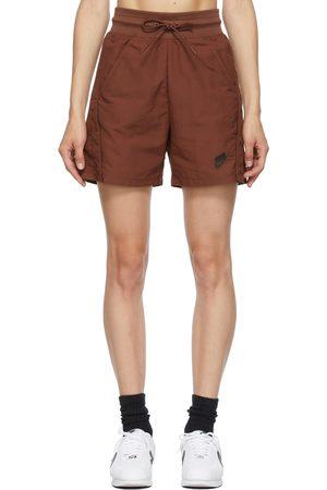 Nike Women Shorts - Brown High-Rise NSW Shorts