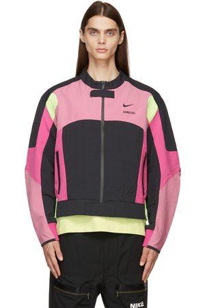 Nike Men Bomber Jackets - Pink & Black AMBUSH Edition Satin Bomber Jacket
