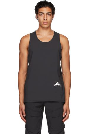Nike Men Tank Tops - Black Dri-FIT Rise 365 Tank Top