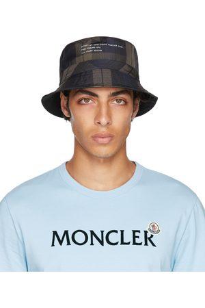 Moncler Genius Men Hats - 7 Moncler FRGMT Hiroshi Fujiwara Reversible Brown & Blue Check Bucket Hat