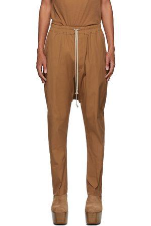 Rick Owens Men Pants - Tan Drawstring Long Trousers
