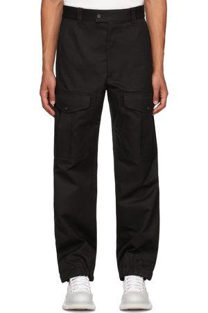 Alexander McQueen Men Cargo Pants - Black Baggy Military Cargo Pants