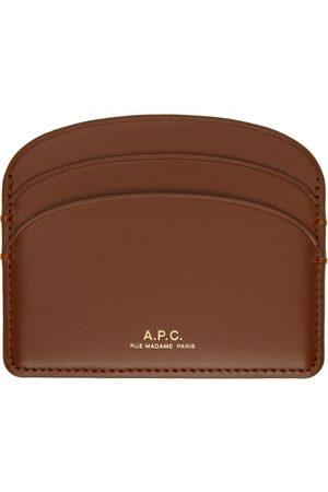 A.P.C. Women Wallets - Brown Demi-Lune Card Holder