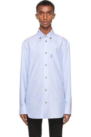 VERSACE Men Shirts - Blue Medusa Button Shirt